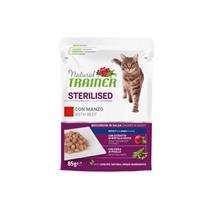 Natural Trainer Cat Sterilised, vrečka - govedina - 85 g
