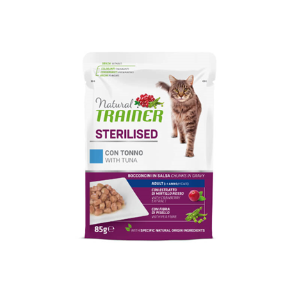 Natural Trainer Cat Sterilised, vrečka - tuna - 85 g