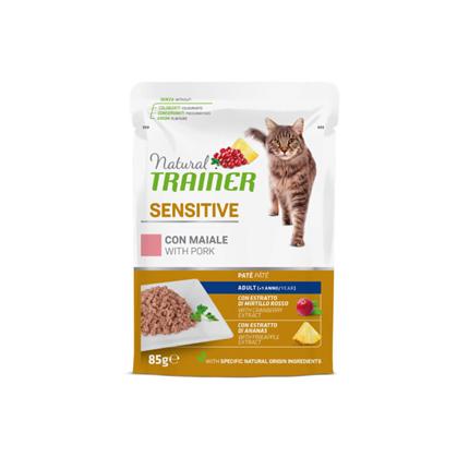 Natural Trainer Cat Sensitive, vrečka - svinjina - 85 g