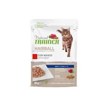 Natural Trainer Cat Hairball, vrečka - govedina - 85 g