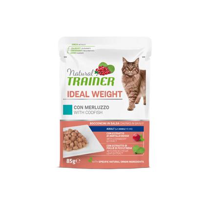 Natural Trainer Cat Ideal Weight, vrečka - polenovka - 85 g