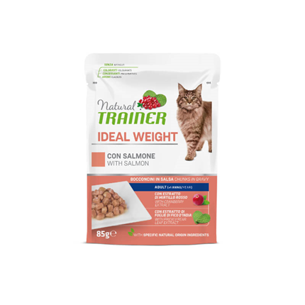 Natural Trainer Cat Ideal Weight, vrečka - losos - 85 g