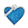 My Family identifikacijski obesek bleščice, majhen srček - GRAVIRANJE GRATIS! modra