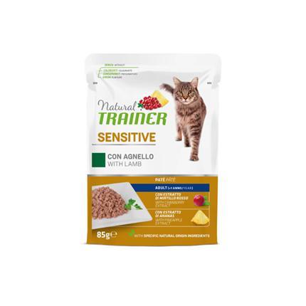 Natural Trainer Cat Sensitive, vrečka - jagnjetina - 85 g