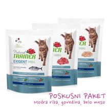 Trainer Natural Cat poskusni paket za izbirčne mačke - modra riba, govedina, belo meso - 3 x 300 g
