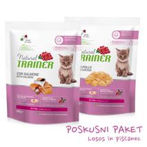 Trainer Natural Kitten poskusni paket za mladičke - losos, piščanec - 2 x 300 g