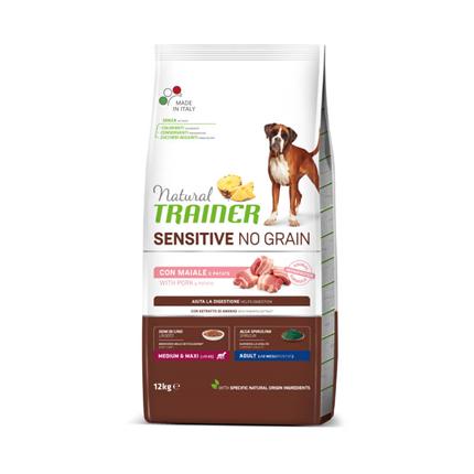 Natural Trainer Sensitive No Grain Adult Medium/Maxi - svinjina
