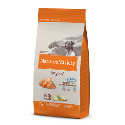 Nature's Variety Original No grain Dog Mini Adult - losos