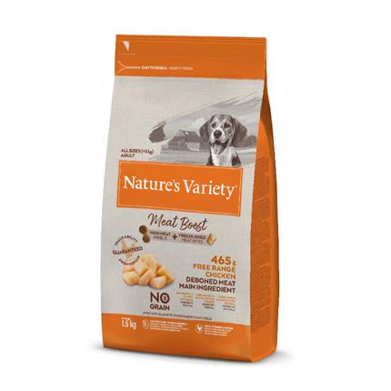 Nature's Variety Meat Boost Adult Dog - piščanec iz proste reje