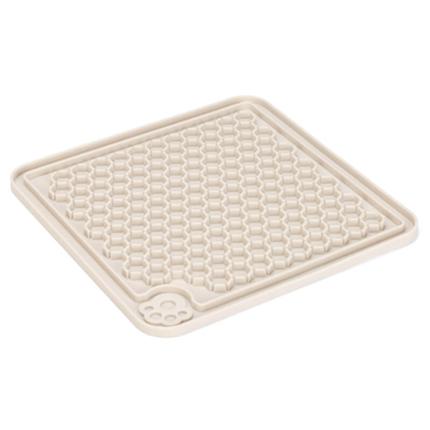 Beeztees gumi podloga Licki Mat, siva - 20 x 20 cm