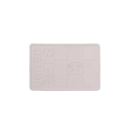 United Pets podloga za posode guma, siva - 44,8 x 30 cm