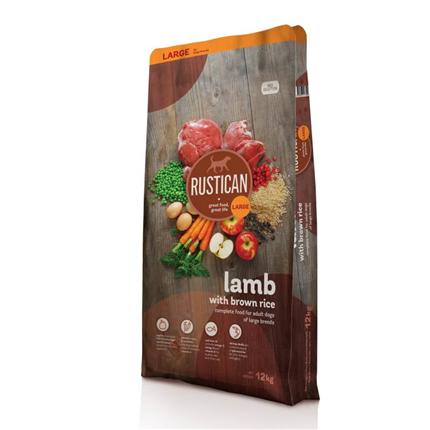 Rustican Gluten Free Large Breed - jagnjetina in rjavi riž