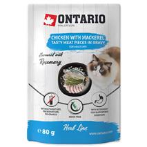 Ontario Cat Herb Line vrečka - piščanec in skuša - 80 g