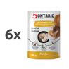Ontario Cat Herb Line vrečka - piščanec in šunka - 80 g 6 x 80 g