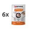 Ontario Cat Herb Line vrečka - piščanec, raca, riž, rožmarin - 80 g 6 x 80 g