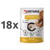 Ontario Cat Herb Line vrečka - piščanec in šunka - 80 g 18 x 80 g