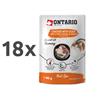 Ontario Cat Herb Line vrečka - piščanec, raca, riž, rožmarin - 80 g 18 x 80 g