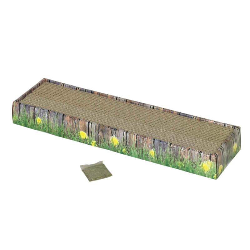 Nobby praskalnik v obliki hišice z mačjo meto - 48 x 12,5 x 5 cm