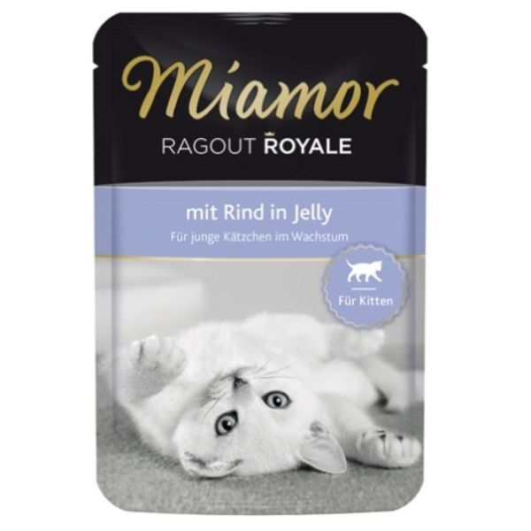 Miamor Ragu Royal Kitten - govedina v želeju - 100 g