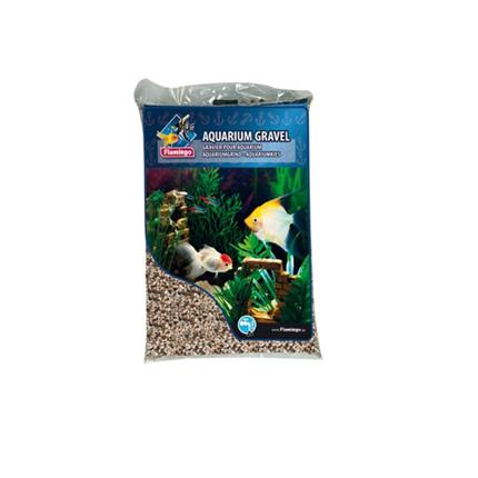 Flamingo akvarijski pesek, svetli - 3-6 mm / 10 kg